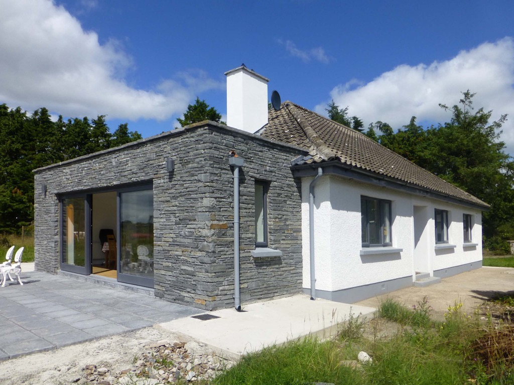 Eoin o keeffe architects ballybride sunroom bungalow for Bungalow plans ireland