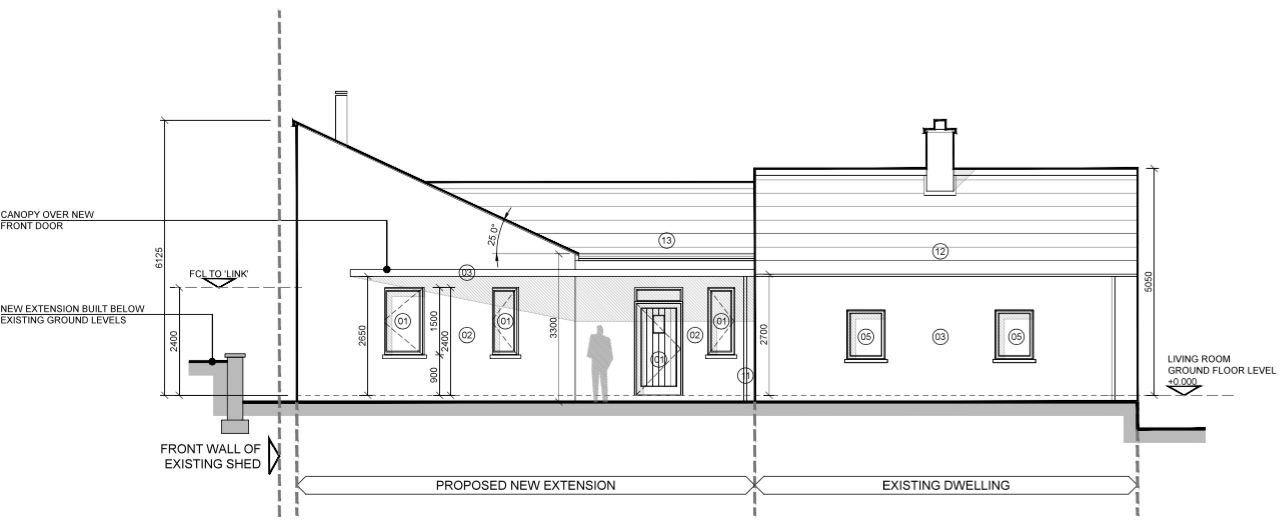Front Elevation Planning Permission : Eoin o keeffe architects planning permission cottage