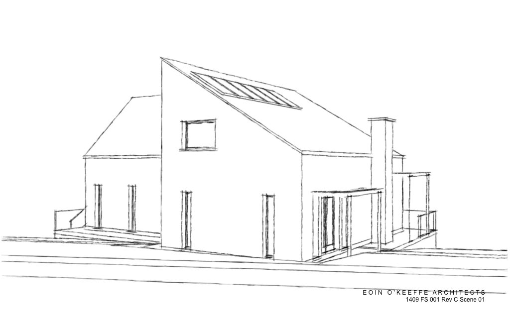 New House 3D | Rathcormac | Rural Site | Eoin O'Keeffe Architects