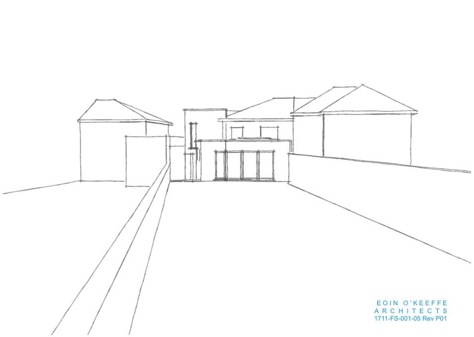 House Extension 3D Image, Abbeyside, Eoin O'Keeffe Architects