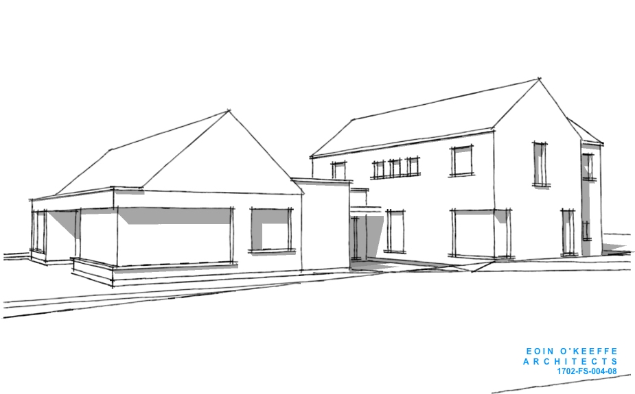 New House 3D   Dungarvan   Rural Site   Eoin O'Keeffe Architects