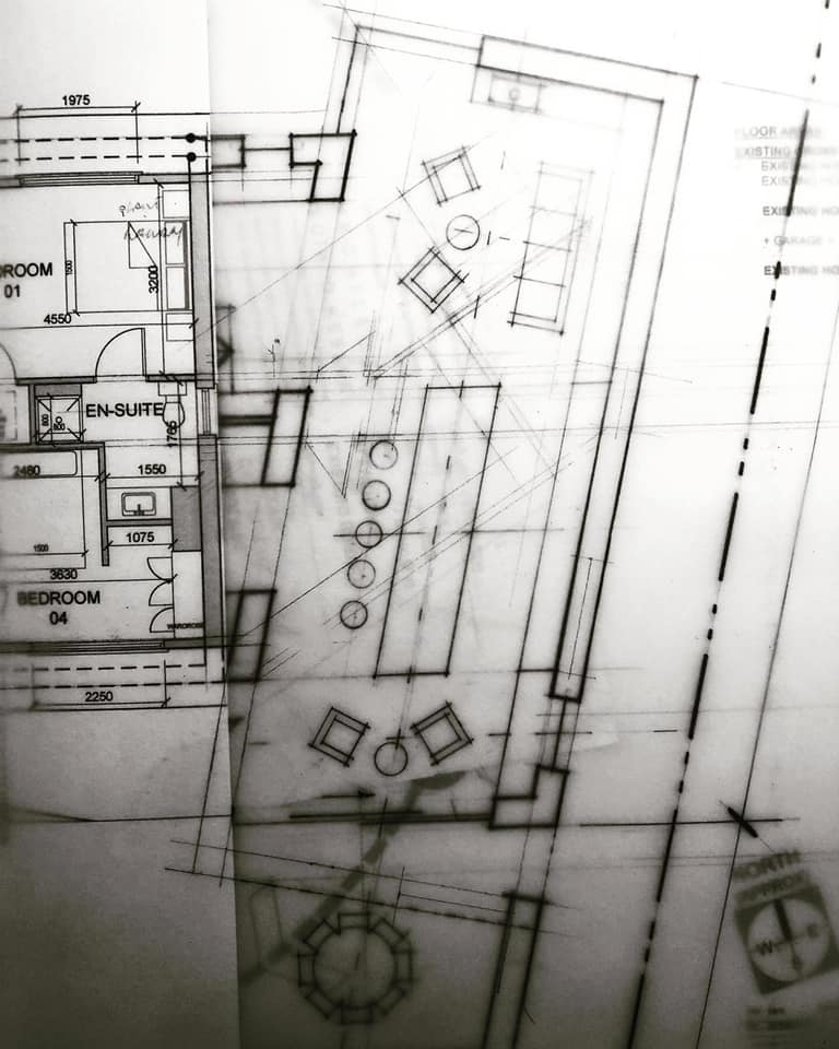 House Extension Design Development | Floor Plan | Sketch Design | Hand Drawing 001 | Eoin O'Keeffe Architects