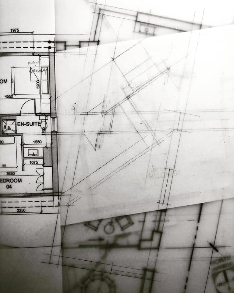 House Extension Design Development | Floor Plan | Sketch Design | Hand Drawing 002 | Eoin O'Keeffe Architects